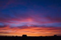 El cielo se arde Fotografía de archivo libre de regalías