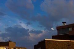 El cielo se nubla la opinión al aire libre de la naturaleza de la puesta del sol Fotografía de archivo libre de regalías