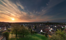El cielo sobre Breisach Fotografía de archivo libre de regalías