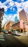 el cielo sobre Philadelphia Imagenes de archivo