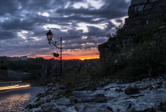 El cielo y la roca fotos de archivo