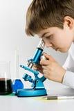 El científico joven Foto de archivo libre de regalías