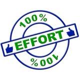 El ciento por ciento de esfuerzo representa el trabajo duro y totalmente stock de ilustración