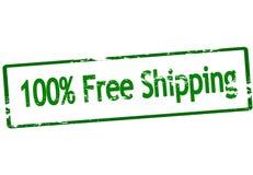 El ciento por ciento de envío gratis stock de ilustración