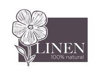 El 100 cientos por ciento natural de lino del producto natural de la garantía ilustración del vector