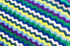 El cierre colorido de la superficie de la manta del estilo de Tailandia encima de la tela del vintage se hace de tela de algodón  Imágenes de archivo libres de regalías