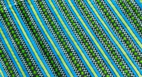El cierre colorido de la superficie de la manta del estilo de Tailandia encima de la tela del vintage se hace de tela de algodón  Fotos de archivo libres de regalías
