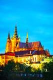 El cierre del castillo de Praga para arriba Imágenes de archivo libres de regalías