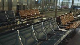 El cierre del salón del aeropuerto para arriba almacen de video