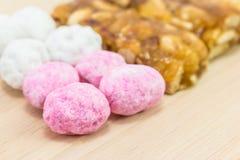 El cierre encima del caramelo chino o del caramelo chino asiático es un traditio Imágenes de archivo libres de regalías
