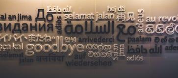 El cierre encima del tiro en cómo la gente en todo el mundo dice adiós Imagen de archivo
