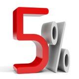 El cinco por ciento apagado Descuento el 10% Fotos de archivo libres de regalías