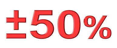 El cincuenta por ciento stock de ilustración