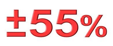 El cincuenta y cinco por ciento stock de ilustración