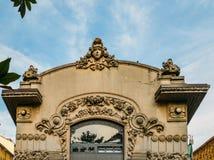 El cine Dumont en el distrito de Porta Venezia fue construido en 1908 en el estilo de Art Nouveau El edificio fue construido espe Foto de archivo libre de regalías