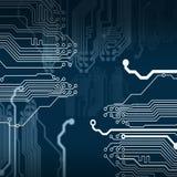 El circuito electrónico Imagen de archivo libre de regalías