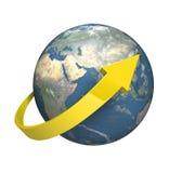 El circundar en todo el mundo Imagen de archivo