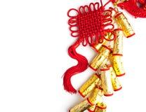 El ciruelo chino de las decoraciones del festival del Año Nuevo florece en blanco Fotos de archivo libres de regalías