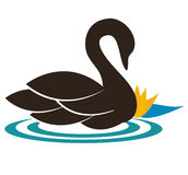 El cisne stock de ilustración