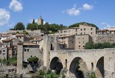 El ciudad-castillo de Besalu España Fotografía de archivo libre de regalías