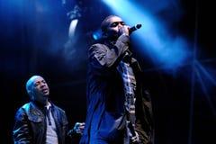 El clan de Wu-Tang, grupo americano del hip-hop de la costa este, se realiza en el festival 2013 del sonido de Heineken Primavera Imagen de archivo