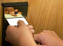 El clave de la puerta Fotos de archivo libres de regalías