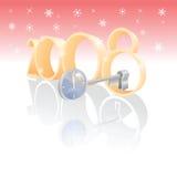 El clave mágico abre Año Nuevo stock de ilustración