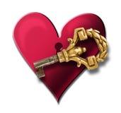 El clave a mi corazón Foto de archivo libre de regalías