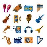 El claxon de la música fijó 3 Fotografía de archivo libre de regalías