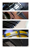 El claxon de la música fijó 3 imagen de archivo libre de regalías