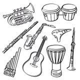 El claxon de la música fijó 3 libre illustration