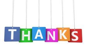 El cliente de las gracias le agradece concepto Imagen de archivo