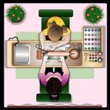 El cliente en el pasillo manikyurny de la tienda de belleza Imagen de archivo libre de regalías