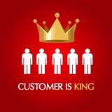 El cliente es reina del usuario del consumidor del rey libre illustration
