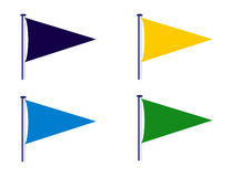 El club de deporte señala la ilustración por medio de una bandera Imagen de archivo libre de regalías