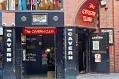 El club de la caverna, en el St de Mathew, Liverpool, Reino Unido. Fotos de archivo