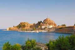 El club de la navegación en la fortaleza vieja de Corfú, Grecia Fotos de archivo