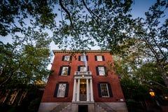 El club de la universidad, en providencia, Rhode Island fotografía de archivo