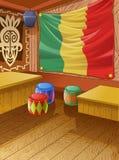 El club de madera de Jamaica del vector es colorido libre illustration