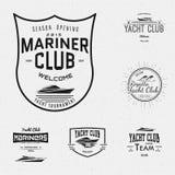 El club náutico badges logotipos y las etiquetas para ningunos uso libre illustration