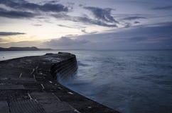 El Cobb en Lyme Regis fotos de archivo libres de regalías