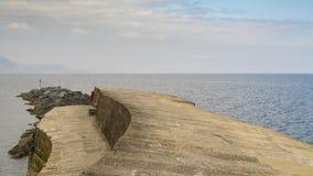 El Cobb, Lyme Regis, Dorset, Reino Unido fotografía de archivo