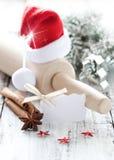 El cocer al horno para la Navidad Fotos de archivo libres de regalías