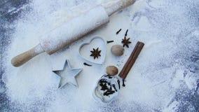 El cocer al horno para la Navidad fotografía de archivo libre de regalías