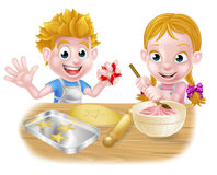 El cocer de los niños de la historieta Imagen de archivo libre de regalías