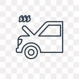 El coche con problemas del calor vector el icono aislado en backg transparente ilustración del vector