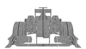 El coche de carreras raya vector Imagenes de archivo