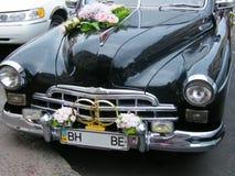El coche de la boda Foto de archivo libre de regalías