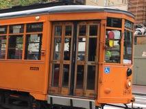 El coche de la calle del ` de Peter Witt del ` construido para Milán, Italia, 2 Foto de archivo