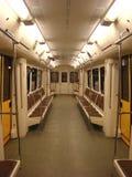 El coche de la Moscú subterráneo Foto de archivo